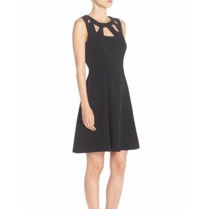 NWT Maurices Black Cutout Ponte Skater Dress